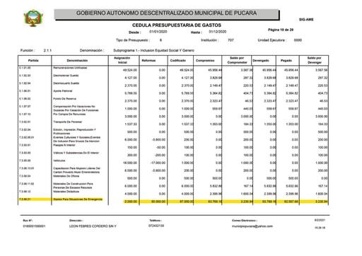 Presupuesto participativo 2020